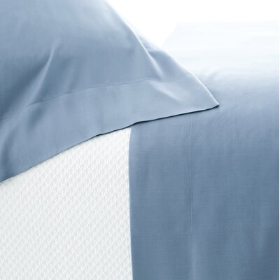 Silken Solid Pillowcase Size: King, Color: Storm Blue
