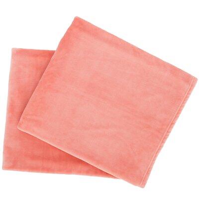 Selke Fleece Throw Blanket Color: Coral