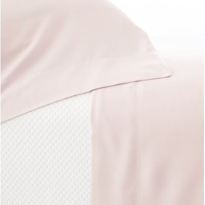 Silken Solid 400 Thread Count Tencel Sheet Set Size: Twin, Color: Slipper Pink