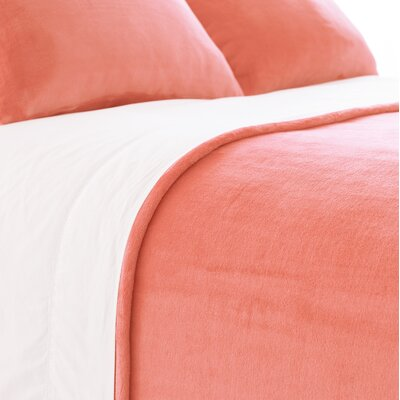 Selke Dusty Sham Size: Standard, Color: Coral
