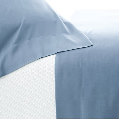 Silken Solid Sheet Set Color: Storm Blue, Size: Queen
