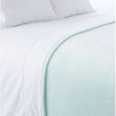 Selke Fleece Throw Blanket Size: Full/Queen, Color: Sky