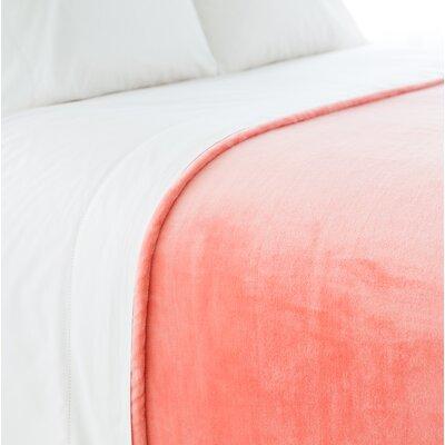 Selke Fleece Throw Blanket Size: Full/Queen, Color: Coral