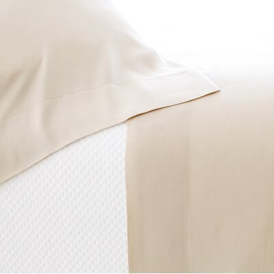 Silken Solid 400 Thread Count Tencel Sheet Set Size: Twin, Color: Sand