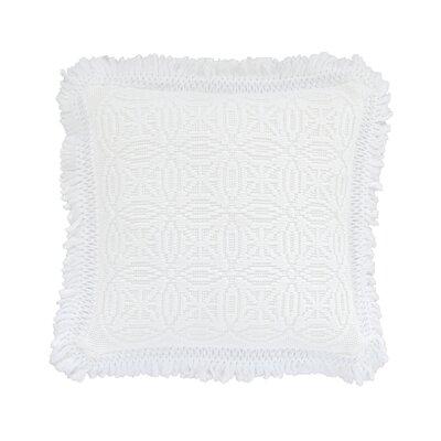 Anka Decorative Cotton Throw Pillow Color: White, Size: 20 x 20