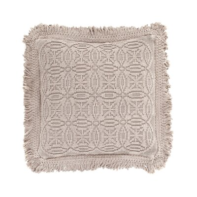 Anka Decorative Cotton Throw Pillow Color: Fossil, Size: 20 x 20