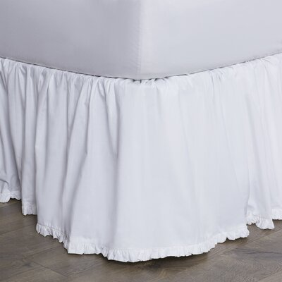 Classic Ruffle Cotton Bed Skirt Size: Queen, Color: Bright White