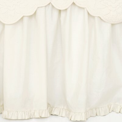 Classic Ruffle Cotton Bed Skirt Size: Queen, Color: Ivory