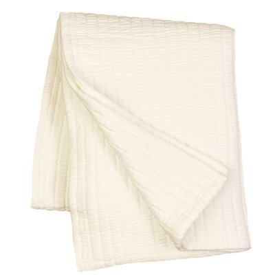 Boyfriend Matelasse Throw Color: Ivory