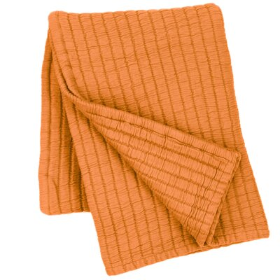 Boyfriend Matelasse Throw Color: Orange