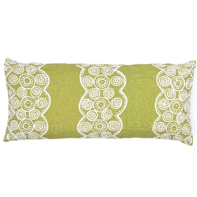 French Knot Linen Double Boudoir Decorative Pillow Color: Citrus