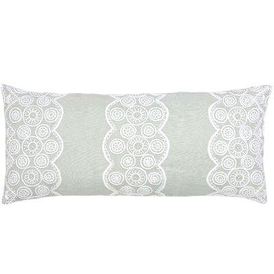 French Knot Linen Double Boudoir Decorative Pillow Color: Sky