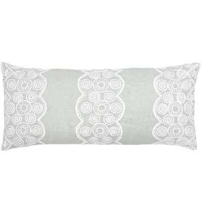 French Knot Double Decorative Linen Lumbar Pillow Color: Sky