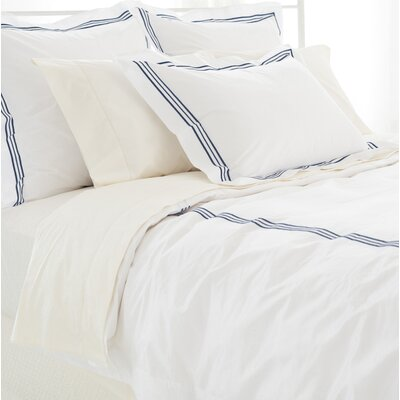 Trio Duvet Cover Size: King, Color: Indigo