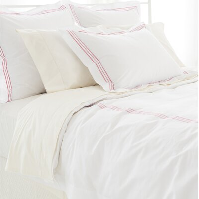 Trio Duvet Cover Size: Twin, Color: Coral
