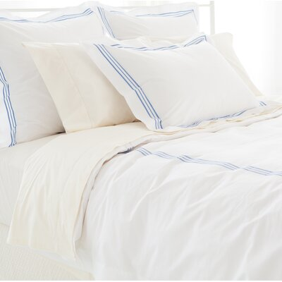 Trio Duvet Cover Size: King, Color: French Blue