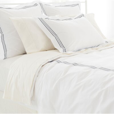 Trio Duvet Cover Size: Twin, Color: Shale