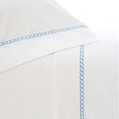 Helix Pillow Case Size: King, Color: French Blue