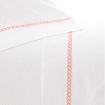 Helix Pillowcase Size: Standard, Color: Coral