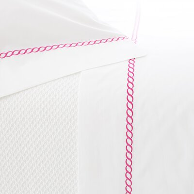Helix Pillowcase Size: King, Color: Fuchsia