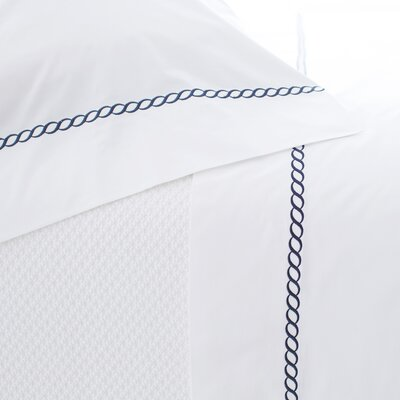 Helix Pillowcase Size: Standard, Color: Indigo