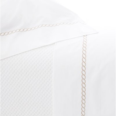 Helix Pillowcase Size: Standard, Color: Linen