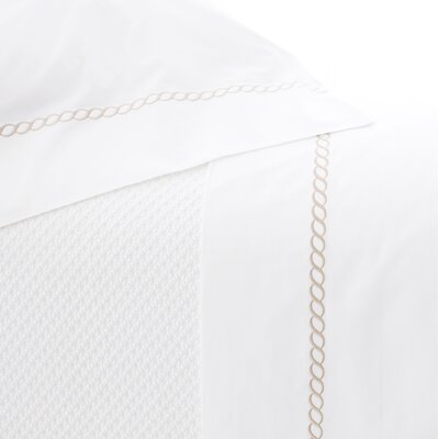 Helix 100% Cotton Flat Sheet Size: King, Color: Linen