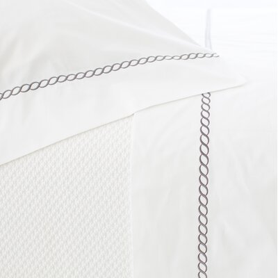 Helix 400 Thread Count 100% Cotton Flat Sheet Size: Queen, Color: Shale