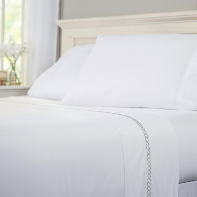 Helix 100% Cotton Flat Sheet Size: King, Color: Pearl Gray