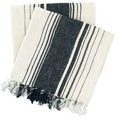 Harbor Stripe Throw Color: Blue