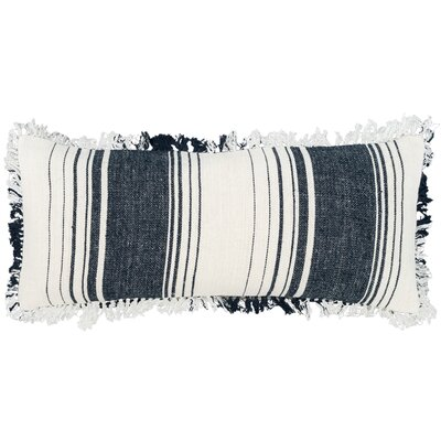 Harbor Stripe Lumbar Pillow Color: Blue
