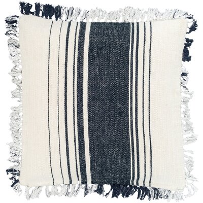 Harbor Stripe Throw Pillow Color: Blue