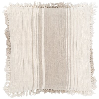 Harbor Stripe Throw Pillow Color: Brown