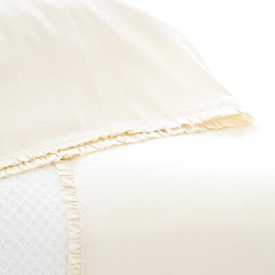 La Dolce Villa Petite Ruffle Pillowcase Size: King, Color: Ivory