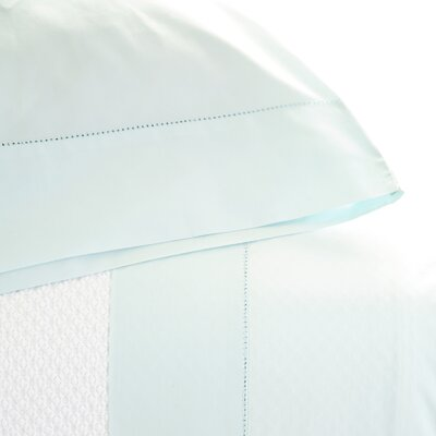 Classic Hemstitch Pillowcase Size: King, Color: Sky