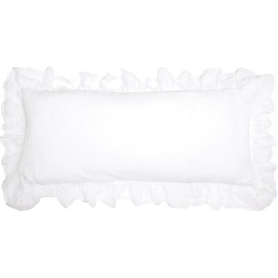 Savannah Double Linen Lumbar Pillow Color: White