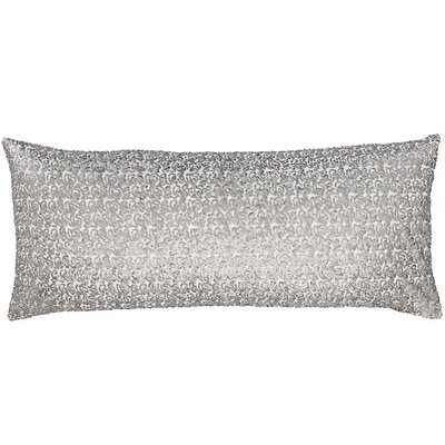 Glaze Sequin Double Boudoir Pillow Color: Gray