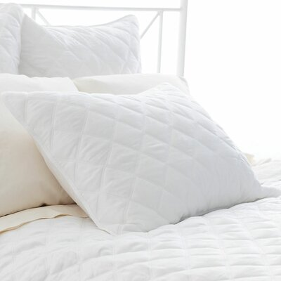 Tencel Quilted Silken Sham Size: Standard, Color: White