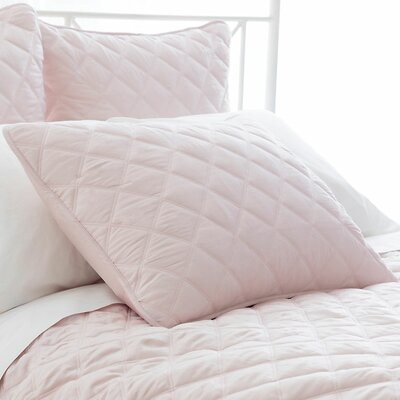 Tencel Quilted Silken Sham Size: Standard, Color: Slipper Pink