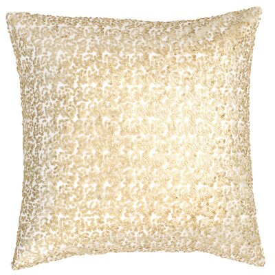 Glaze Sequin Throw Pillow Color: Ivory/Sand