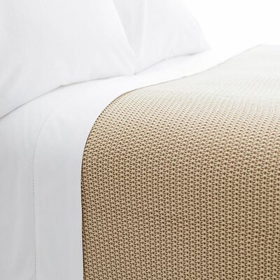 Remy Knit Cotton Blanket Color: Sand, Size: King