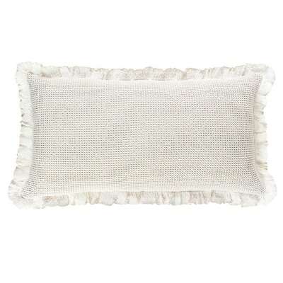 Wruffle Matelasse Cotton Lumbar Pillow Color: Ivory