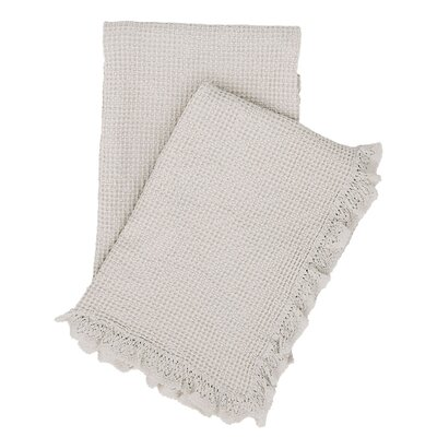 Wruffle Matelasse Cotton Throw Color: Gray