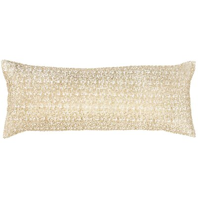Glaze Sequin Double Boudoir Pillow Color: Ivory/Sand