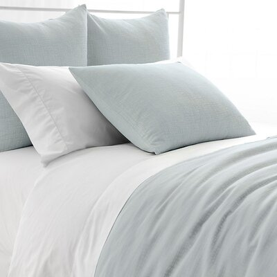Sketch Jacquard Duvet Cover Size: Full/Queen, Color: Robins Egg Blue