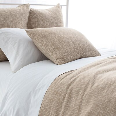 Sketch Jacquard Duvet Cover Size: Full/Queen, Color: Sand