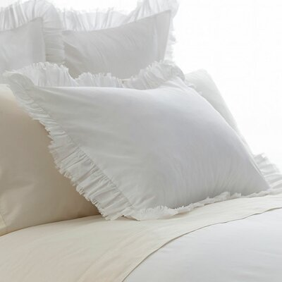 Laundered Ruffle Sham Size: King
