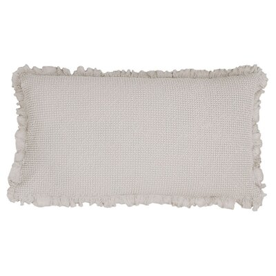Wruffle Matelasse Cotton Lumbar Pillow Color: Gray