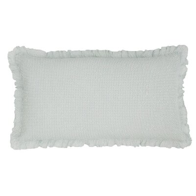Wruffle Matelasse Cotton Lumbar Pillow Color: Robins Egg Blue