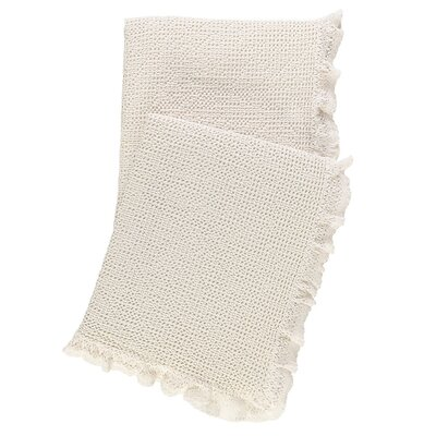 Wruffle Matelasse Cotton Throw Color: Ivory